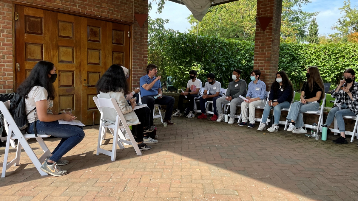 Tenth District high school students join Congressman Brad Schneider (IL-10) to learn about STEAM-related opportunities at the Chicago Botanic Garden