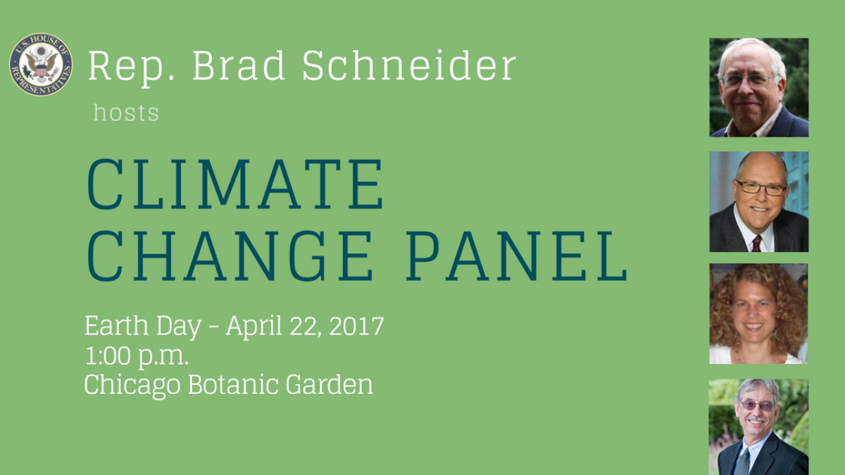 Rep Schneider To Host Panel Discussion On Climate Change
