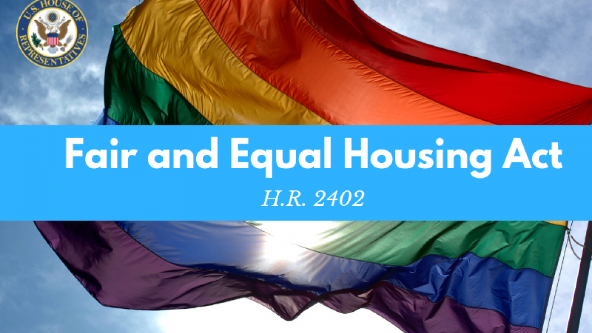 Schneider, Brooks, Wexton, Fitzpatrick Introduce Bipartisan Legislation Extending Housing Protections for LGBTQ Individuals